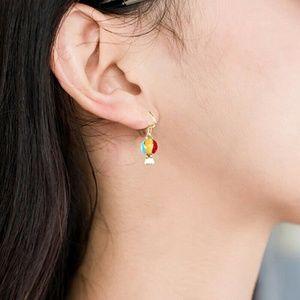 Jewelry - Rainbow Hot Air Balloon Dangle Earrings